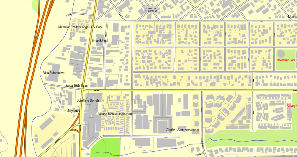 Slo california map clipart clip royalty free download San Luis Obispo, California, US, exact vector street City Plan map ... clip royalty free download
