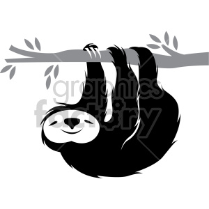 Sloth on tree clipart black and white jpg transparent sloth hanging on a branch clipart. Royalty-free GIF, JPG ... jpg transparent