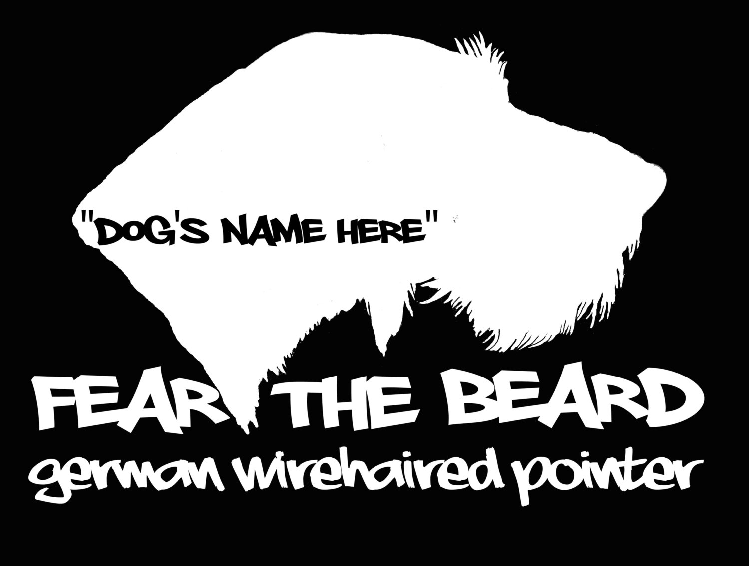 Slovakian rough haired pointer clipart picture transparent Fear the Beard GERMAN WIREHAIRED POINTER vinyl decal by FowlZone picture transparent