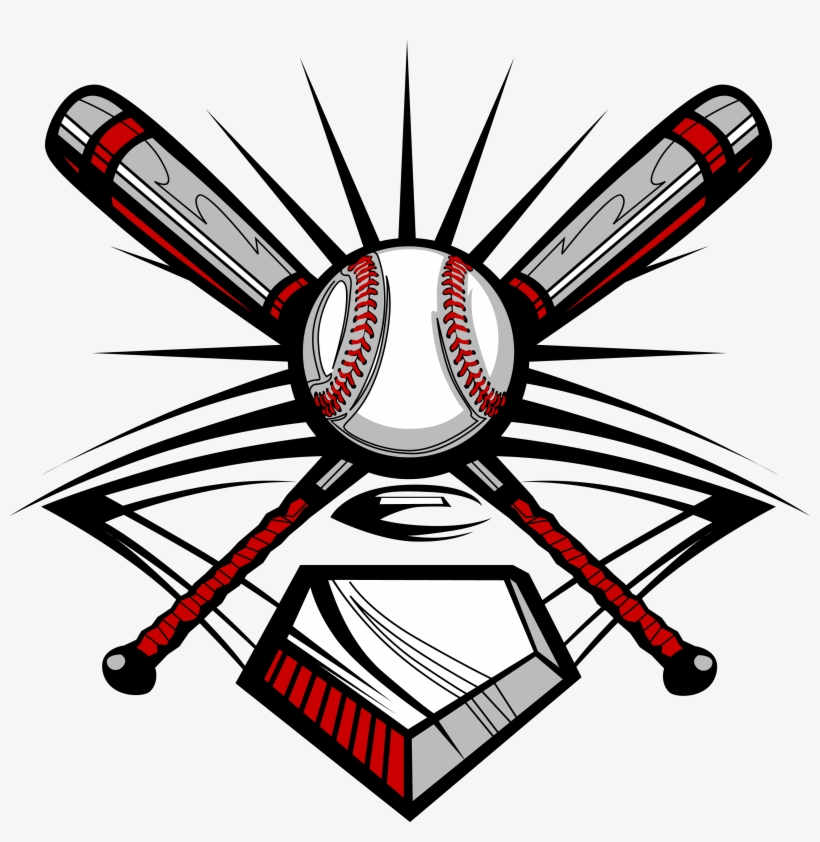 Slowpitch clipart vector Baseball Bat, Ball, And Home Plate - Slow Pitch Softball ... vector