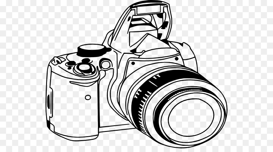 Slr camera clipart graphic freeuse stock Camera Lens png download - 600*488 - Free Transparent Nikon ... graphic freeuse stock