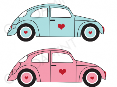 Volkswagen beetle with flowers clipart clip art freeuse stock VW Love Bugs Clip Art Fun VW car graphics! | Handmadelogy ... clip art freeuse stock