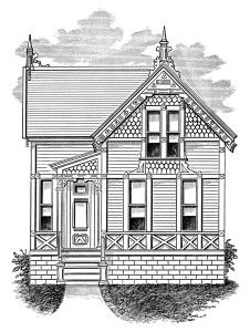 Small 1 story house clipart svg black and white Small 1 story house clipart - ClipartNinja svg black and white