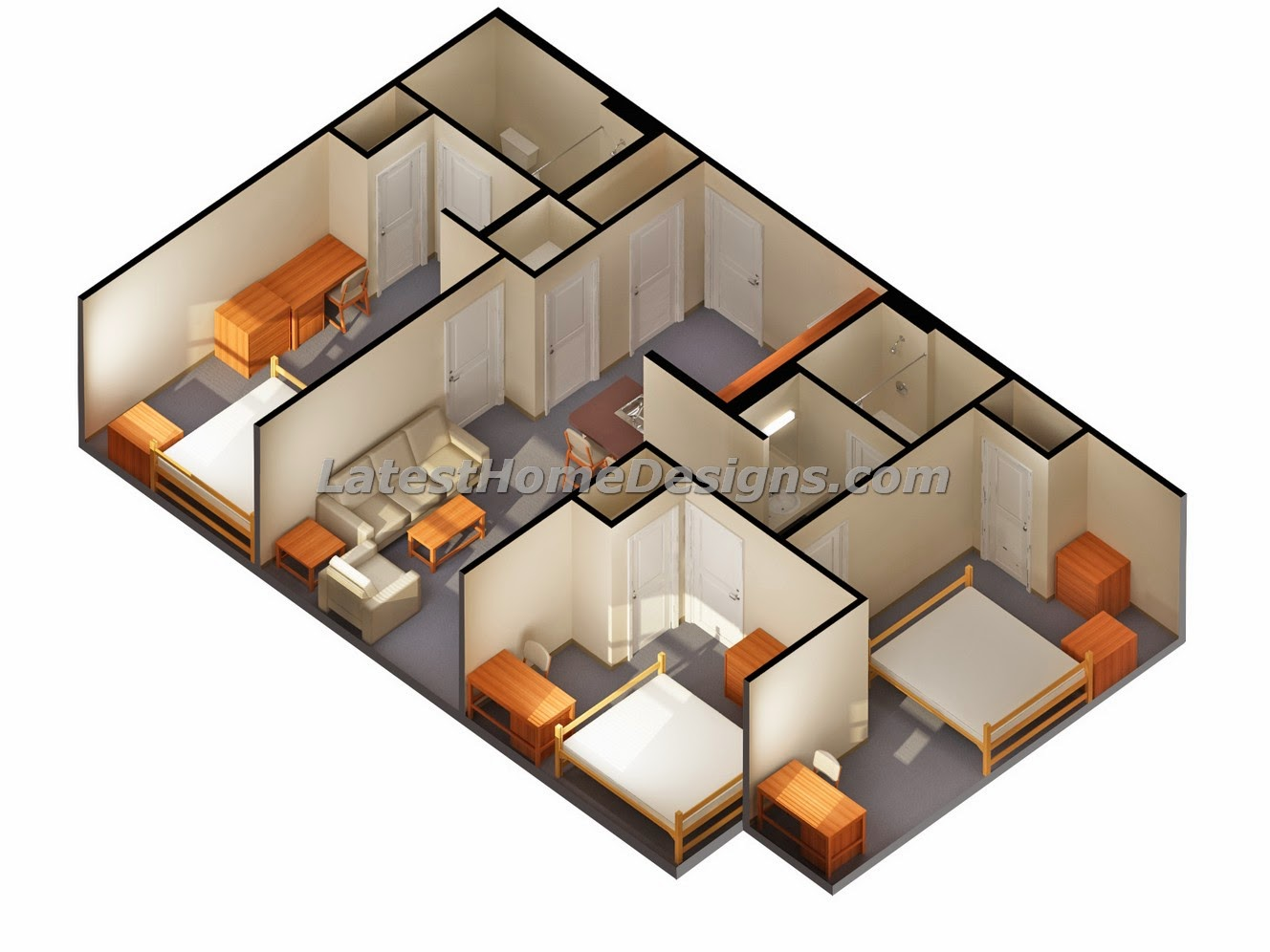 Small 1 story house clipart svg freeuse stock 2 Bedroom Story House Plans One Bed Bath 1 Bathroom Lrg ... svg freeuse stock