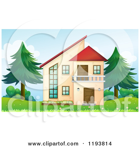 Small 1 story house clipart vector free library Royalty Free Real Estate Illustrations by colematt Page 1 vector free library