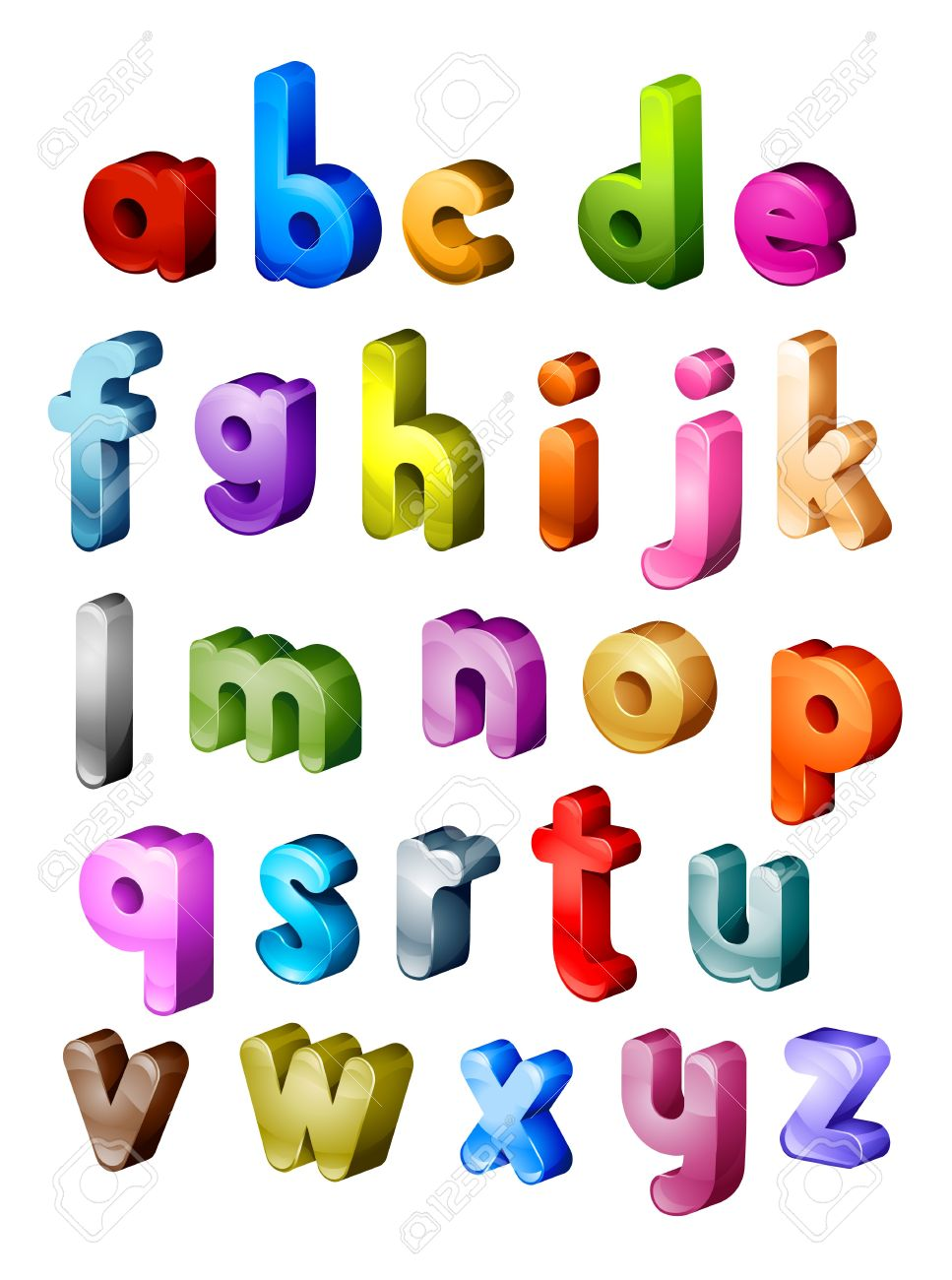 Small alphabet letter clipart clipart transparent library Isometric Alphabet In Small Letters Stock Photo, Picture And ... clipart transparent library