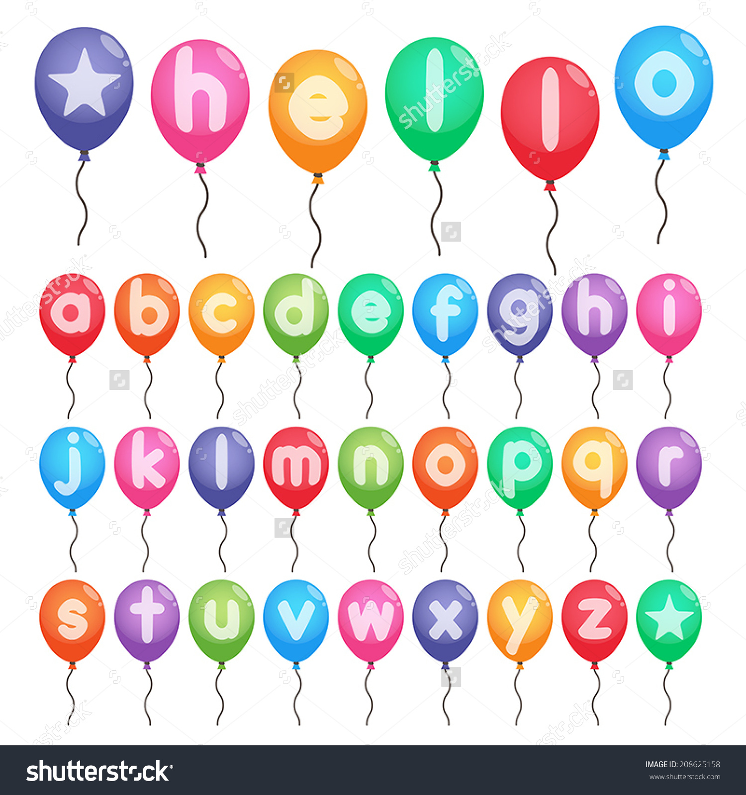 Small alphabet letter clipart banner freeuse download Colorful Small Alphabet Letters Z Balloons Stock Vector 208625158 ... banner freeuse download