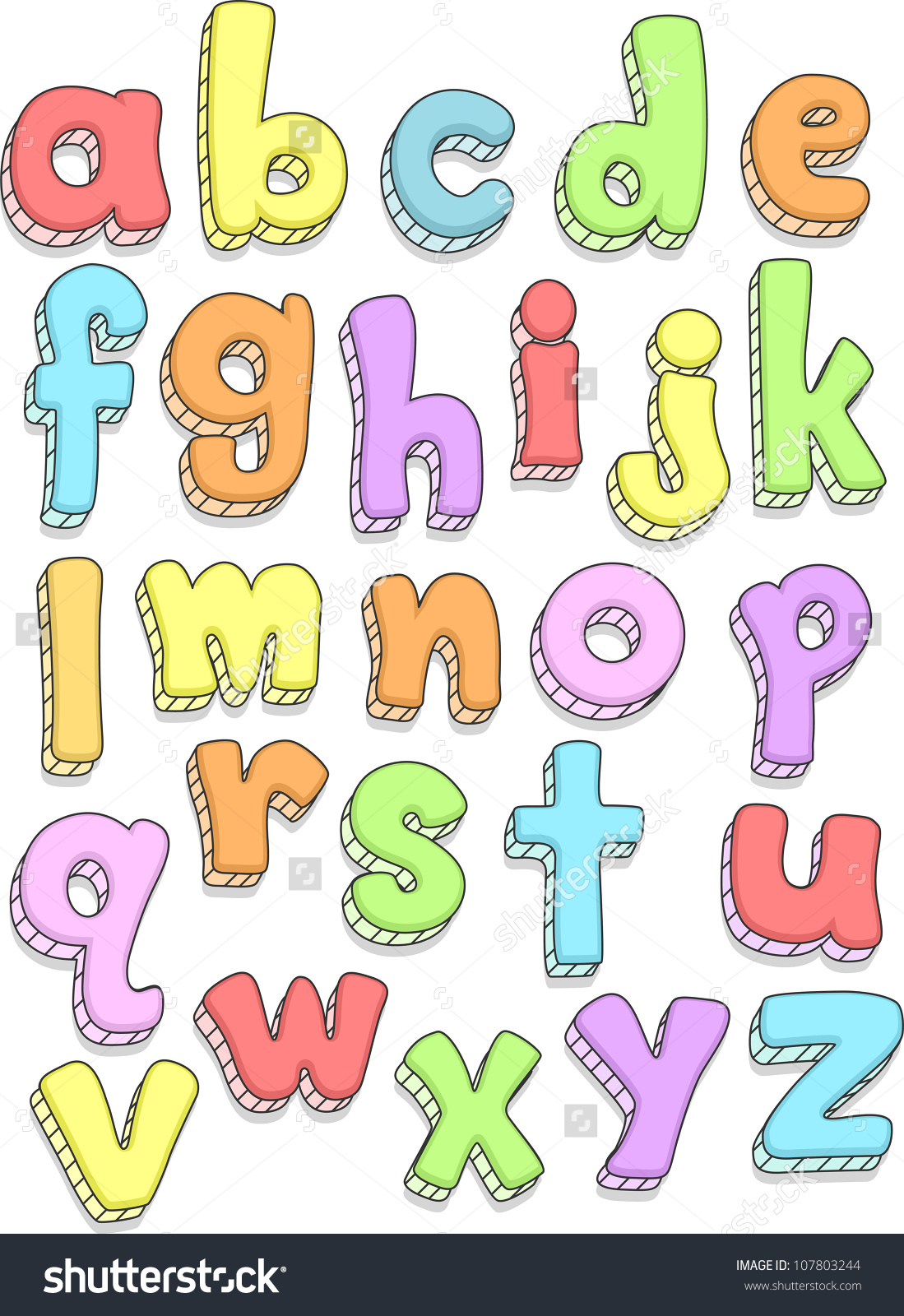 Small alphabet letter clipart png black and white stock Doodle Illustration Featuring Small Letters Alphabet Stock Vector ... png black and white stock