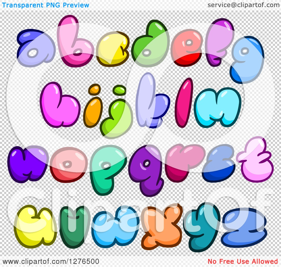 Small alphabet letter clipart image free library Clipart of Colorful Cartoon Comic Bubble Lowercase Alphabet ... image free library