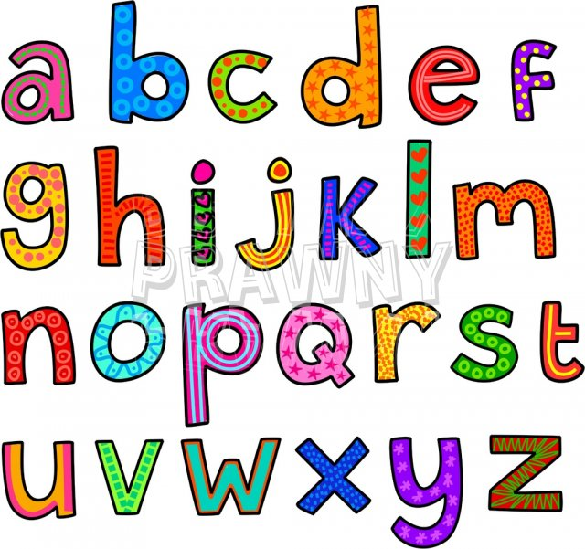 Small alphabet letter clipart image library library Whimsical Cartoon Lowercase Alphabet Letters – Prawny Clipart ... image library library