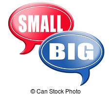 Small and big clipart banner black and white stock Stock Illustration of big or small size matters - big small size ... banner black and white stock