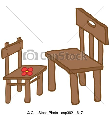 Small and big clipart freeuse Vector Clip Art of chairs - small and big chair cartoon ... freeuse
