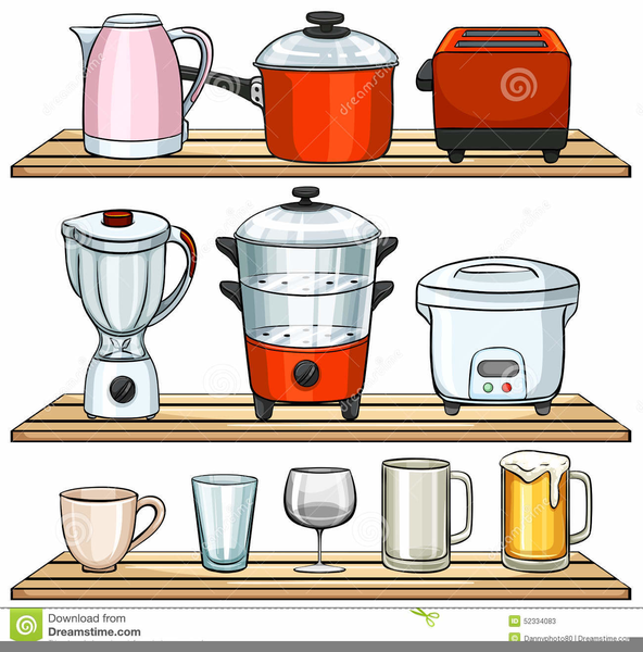 Small appliances clipart
