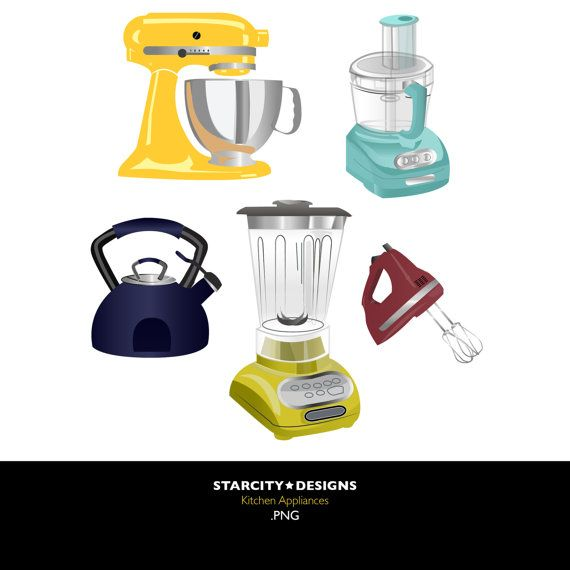 Small appliances clipart clip art library Kitchen Appliances Clip Art Clipart Vector Art by ... clip art library