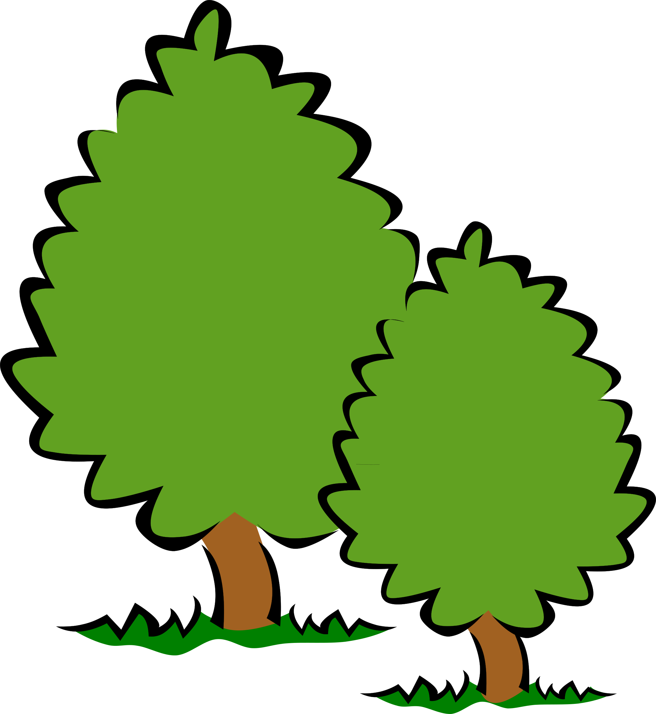 Shade tree clipart graphic black and white Clipart - Small Trees / Bushes graphic black and white