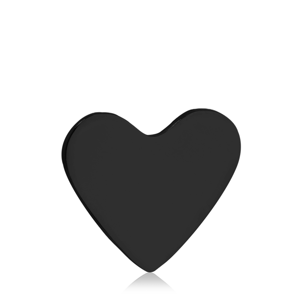 Solid black heart clipart banner black and white download Shop TINKALINK Small Heart | Use a little charm, tell your story ... banner black and white download