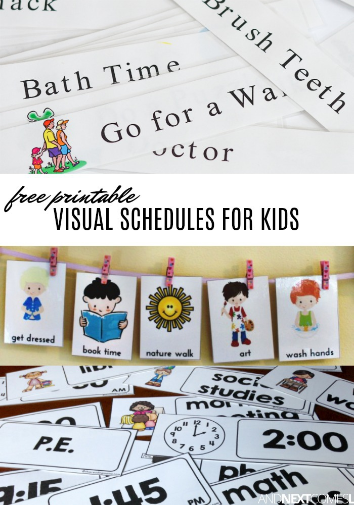 Small boy clipart daily routine schedule night time free download Free Visual Schedule Printables to Help Kids with Daily ... free download