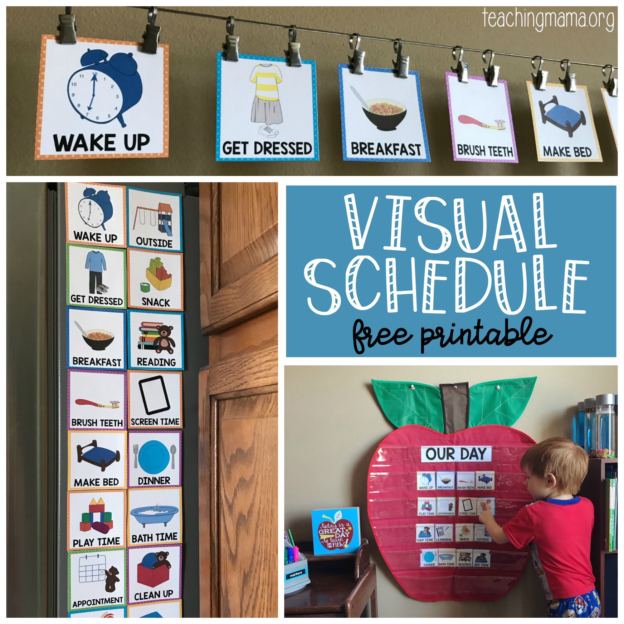 Small boy clipart daily routine schedule night time freeuse library Visual Schedule for Toddlers freeuse library