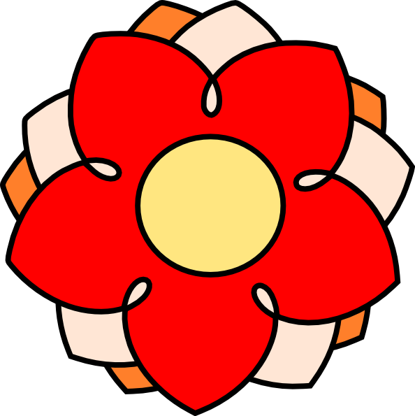 Small cartoon flower picture royalty free library Red And Orange Cartoon Flower Clip Art at Clker.com - vector clip ... picture royalty free library