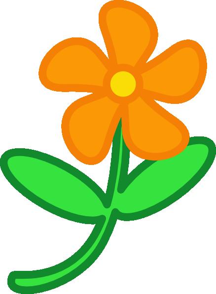 Small cartoon flower png transparent stock Orange Cartoon Flower Clip Art at Clker.com - vector clip art ... png transparent stock