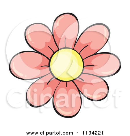 Small cartoon flower png royalty free library Cartoon Of A Pink Flower - Royalty Free Vector Clipart by colematt ... png royalty free library