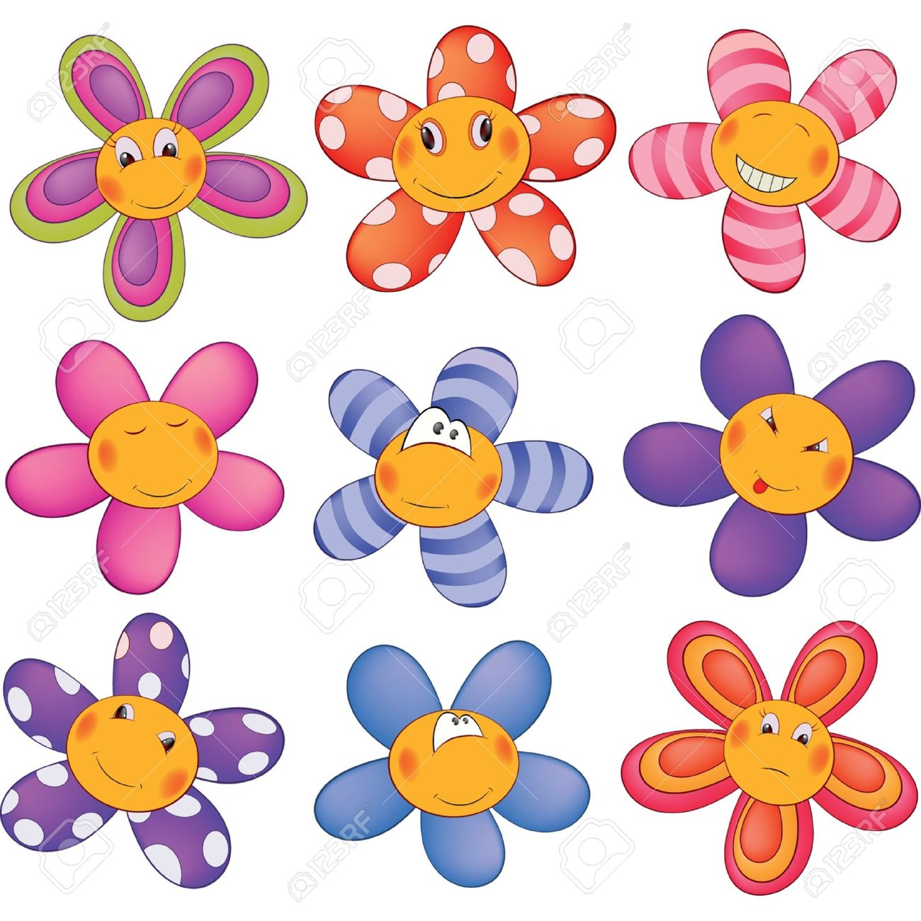 Small cartoon flower image black and white Cheerful Small Asterisks Cartoon Royalty Free Cliparts, Vectors ... image black and white