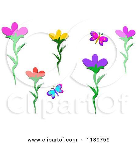 Small cartoon flower image freeuse download Cartoon of Butterfly and Flower Design Elements - Royalty Free ... image freeuse download