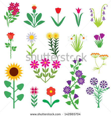 Small cartoon flowers royalty free library Cartoon Flowers Stock Images, Royalty-Free Images & Vectors ... royalty free library