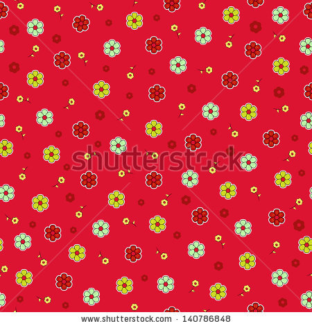 Small cartoon flowers picture freeuse Small Cartoon Flowers Seamless Pattern Stock Vector Illustration ... picture freeuse