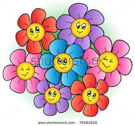 Small cartoon flowers vector transparent download Picture of cartoon flower - ClipartFest vector transparent download