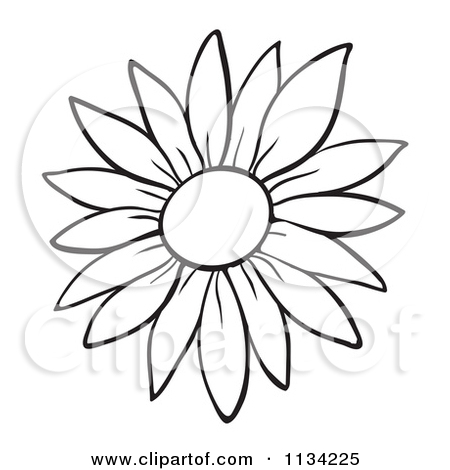 Small cartoon flowers vector free stock Cartoon Of An Outlined Flower - Royalty Free Vector Clipart by ... vector free stock