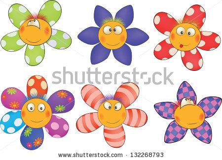 Small cartoon flowers clip art transparent Cheerful Small Flowers Cartoon Stock Illustration 132268793 ... clip art transparent