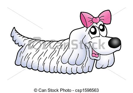 Small clipart dog clipart free stock Drawings of Small dog with ribbon - color illustration. csp1598563 ... clipart free stock
