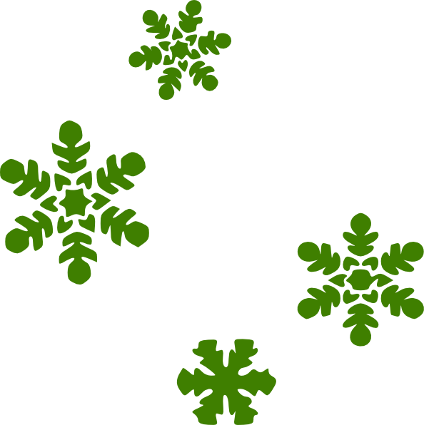 Small clipart free snowflake transparent library Green Snow Flakes Clip Art at Clker.com - vector clip art online ... transparent library