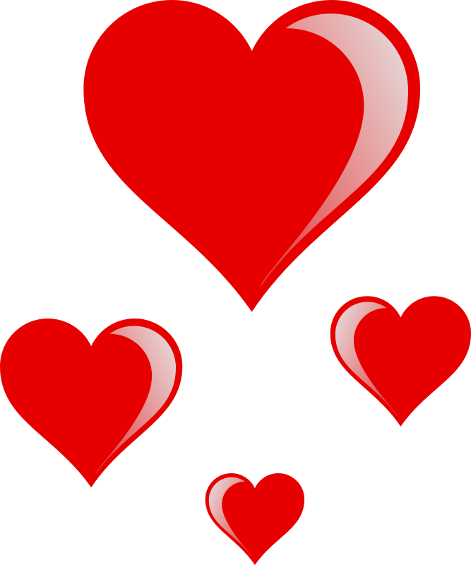 Small heart clipart picture royalty free download Clipart - heart cluster picture royalty free download