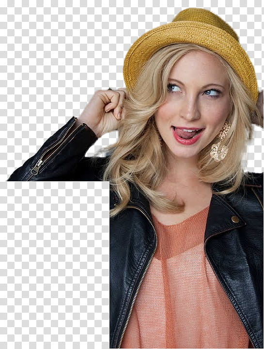 Small clipart of blond woman sticking out tongue image transparent download Candice Accola La Teen Festival Cut Out , woman holding ears ... image transparent download