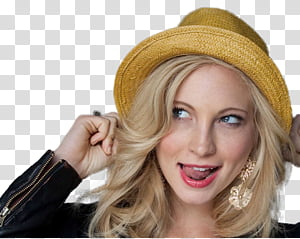 Small clipart of blond woman sticking out tongue picture freeuse Candice Accola La Teen Festival Cut Out , woman holding ears ... picture freeuse