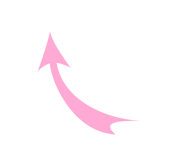 Small curved arrow black and white clipart svg black and white stock Curved-arrow-pink Clip Art at Clker.com - vector clip art online ... svg black and white stock