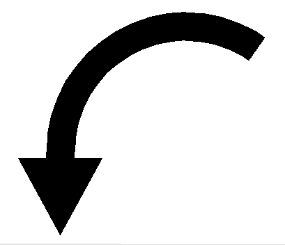 Small curved arrow black and white clipart vector black and white stock Curved Arrow Clipart Black And White - clipartsgram.com vector black and white stock