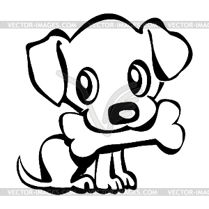 Small cute dog clipart clip art free stock Girl With Puppy Clipart - Clipart Kid clip art free stock