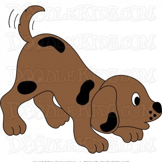 Small cute dog clipart graphic library download Illustration Of Cute Dog Cartoon - Damian Puppies graphic library download