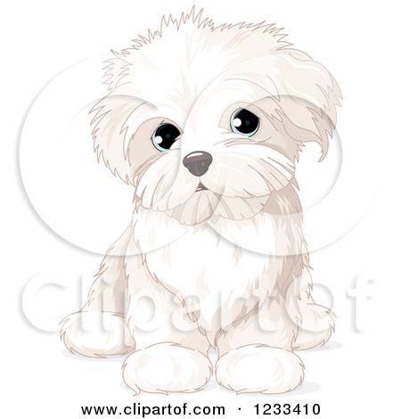 Small cute dog clipart jpg black and white library Royalty-Free (RF) Little Dog Clipart, Illustrations, Vector ... jpg black and white library