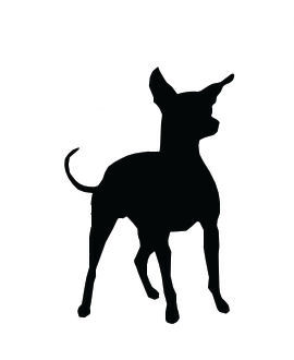 Small dog clipart clip download Silhouette Chihuahua Dog Standing - Dog Clip Art Pictures clip download