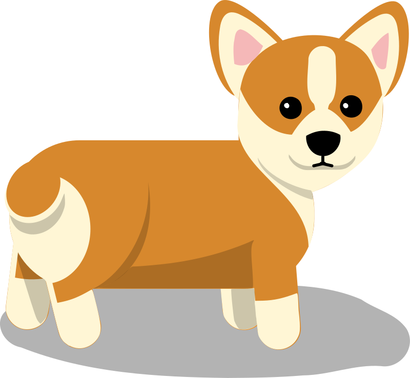 Small government dog clipart