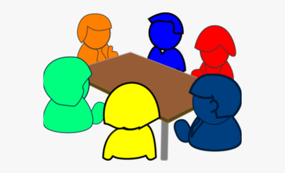 Small group discussions clipart vector black and white library Meeting Clipart Social Meeting - Small Group Discussion ... vector black and white library