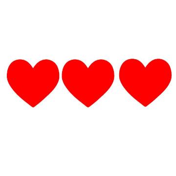 Small hearts clip art clipart black and white stock Small Hearts | Free Download Clip Art | Free Clip Art | on Clipart ... clipart black and white stock