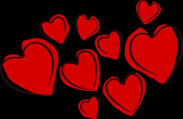 Small hearts clip art image freeuse Small hearts clipart - ClipartFox image freeuse