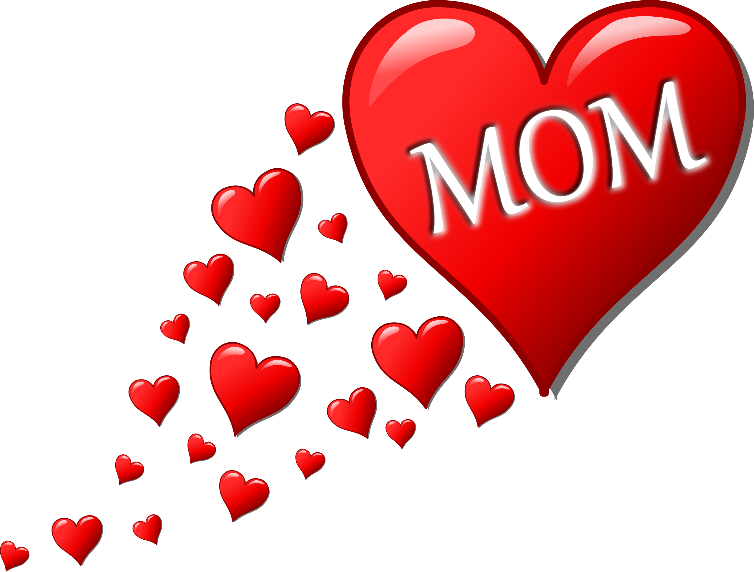 Small hearts clip art png library library Clipart - Mother's day heart with small hearts track png library library