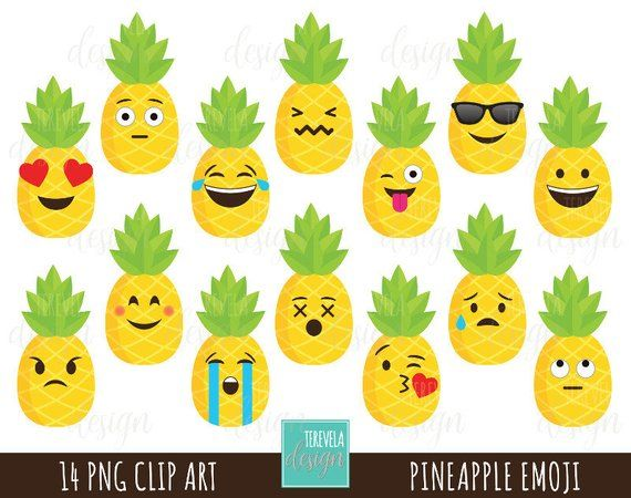 Library of small pineapple smile graphic royalty free ...