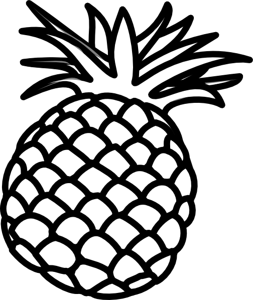 Small pineapple smile clipart clip transparent download 6 Best Images of Pineapple Outline Printable - Pineapple ... clip transparent download